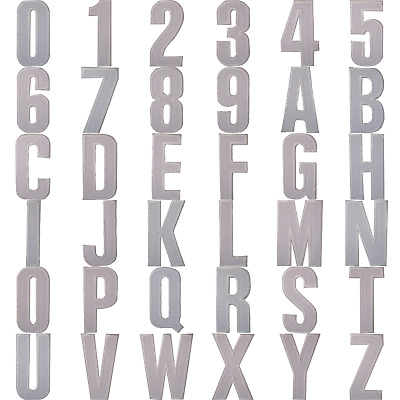 White Letter Number Iron Sew On Patches Badges Name Letters Numbers Badge Patch • 1.99£