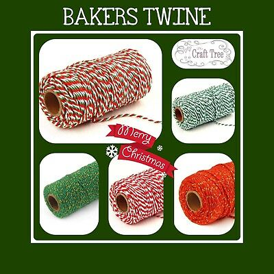 £1.95 • Buy Christmas Bakers Twine Candy Cane Crafts String Ribbon 100% Cotton Xmas