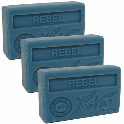 3 X 100g  Rebel French Soaps - With Argan Oil - Savon De Marseille • 9.95£