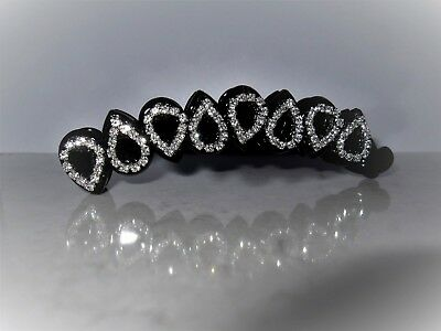 £8.46 • Buy Black Sparkly Banana Hair Claw Clips With Crystals Rhinestones
