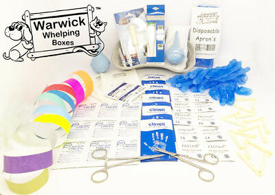 £17.99 • Buy Warwick Complete Puppy Whelping Kit Aspirator Forceps Scissors Clamps & Guides