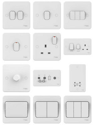 £13.99 • Buy Schneider Lisse Light Switches, Electrical Sockets & Curved Wiring Accessories