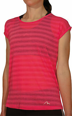 £7.99 • Buy More Mile Breathe Womens Short Sleeve Top Pink Lightweight Training T-Shirt