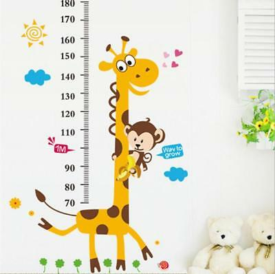 $9.99 • Buy US 3D Wall Stickers Giraffe Kids' Hight Chart Room Decal Wallpaper Removable