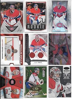 $ CDN1.24 • Buy U PICK'EM LOT (150+) Carey Price RC Inserts Parallel SP Jersey AUTO #'d Cards