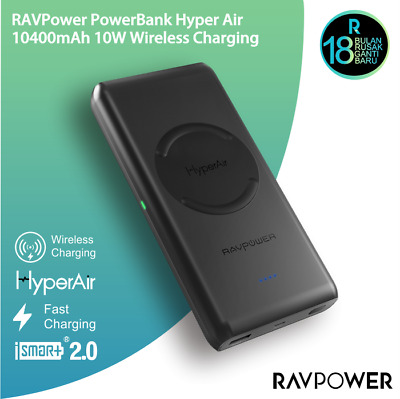 AU98.33 • Buy RavPower Power Bank 10400mAh Qi Fast Wireless Charging Pad For IPhone & Samsung
