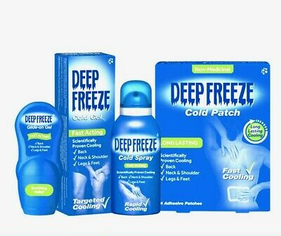 £7.99 • Buy Deep Freeze Gel, Patches, Roll-on And Spray For Targeted Rapid Cooling
