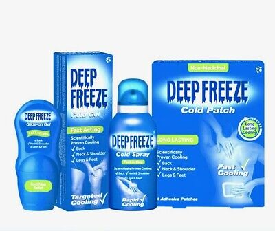 Deep Freeze Pain Relief Gel, Patches, Roll-on, Spray For Muscle And Joint Pain • 6.99£
