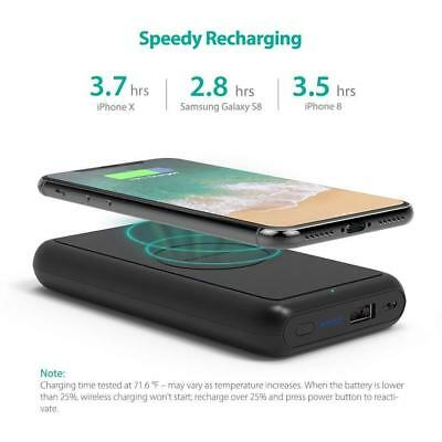 AU95.05 • Buy RavPower Power Bank 10000mAh Wireless & Wired Charging 5W Battery Pack RP-PB081