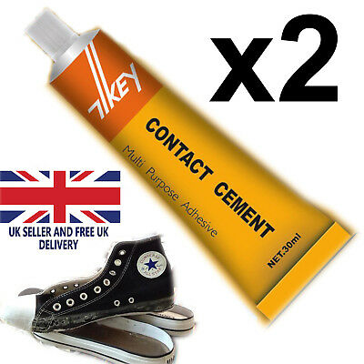 £3.25 • Buy Contact Cement Glue Adhesive Rubber Leather Fabrics Patch Sole Heel Shoe Repairs