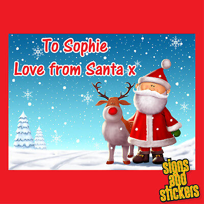 £2.50 • Buy 40 Personalised Christmas Stickers Tags Gift Xmas Parcels Presents Santa Labels