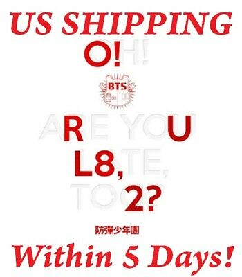 $22 • Buy US SHIPPING BTS-[O!RUL8,2?] 1st Mini Album CD+Photo Card+Booklet+Poster/On