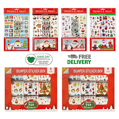 Fun Stickers Christmas Children Birthday Party Loot Bag Fillers Kids Mega Store • 1.99£