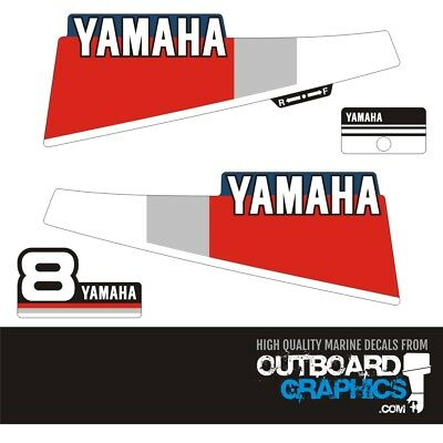 AU45.22 • Buy Yamaha 8hp 2 Stroke Outboard Engine Decals/sticker Kit