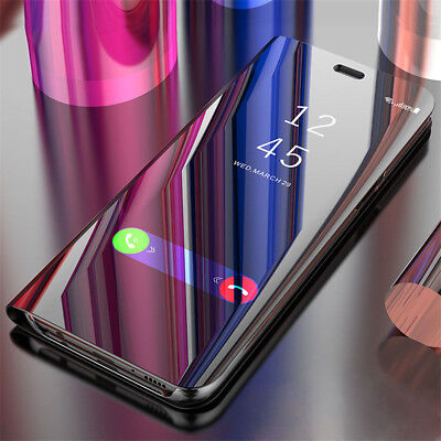 $ CDN6.36 • Buy For OnePlus 8 7 Pro 6T 6 5T,Shockproof Clear View Mirror Flip Stand Case Cover