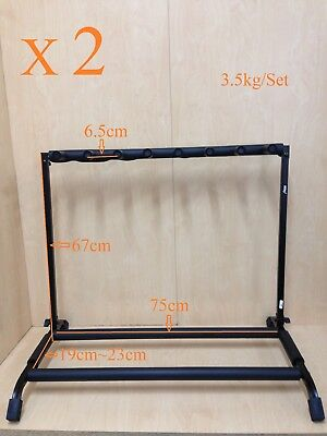 AU106.20 • Buy Two(x2) Haze GS014-7 Metal Structure 7-Guitar-Stand/Display Rack,Foldable,Black