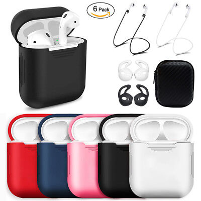 $ CDN5.58 • Buy 6in1 For Apple AirPods Case Accessories Kit Protective Silicone Case Cover Skin
