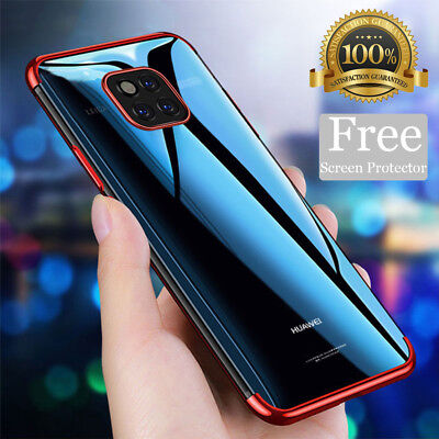 For Huawei P20 Pro Mate 20 Lite Case + Screen Protector Hybrid Shockproof Cover • 1.69£