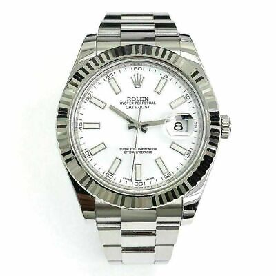 $ CDN13200.65 • Buy Rolex 41MM Datejust II Watch 18K Fluted Bezel Stainless Steel Ref 116334 W Card