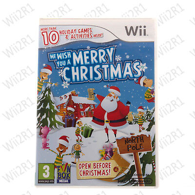 We Wish You A Merry Christmas For Wii Festive Games Kids 3+ *1ST CLASS POST* • 9.95£