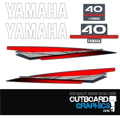AU65.51 • Buy Yamaha 40hp 2 Stroke Outboard Decals/sticker Kit