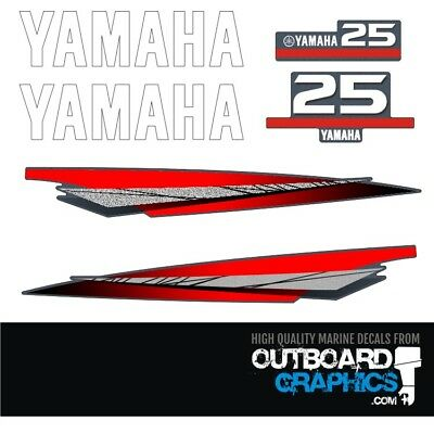 AU61.32 • Buy Yamaha 25hp 2 Stroke Outboard Decals/sticker Kit