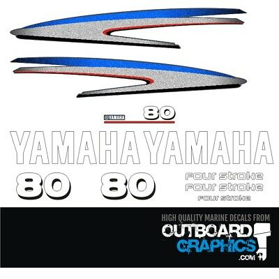 AU73.12 • Buy Yamaha 80hp 4 Stroke Outboard Decals/sticker Kit