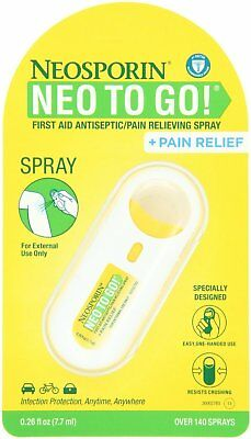 £18.89 • Buy Neosporin Neo To Go Antiseptic Pain Relieving Spray, 0.26 Ounce (Pack Of 4)