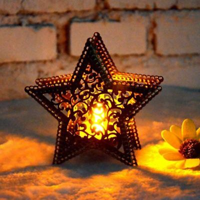 Christmas Home Decor Candlestick Five-Pointed Star Colorful Candles Holder Light • 5.07$