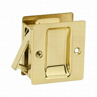 $ CDN6.52 • Buy Kwikset Notch Hall & Closet 1.375 Inch Sliding Door Pocket Pull, Polished Brass