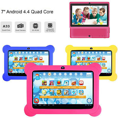 AU57.99 • Buy 7'' Fit Google Android 4.4 WiFi Tablet PC Quad Core 8GB Dual Camera Kids + Case
