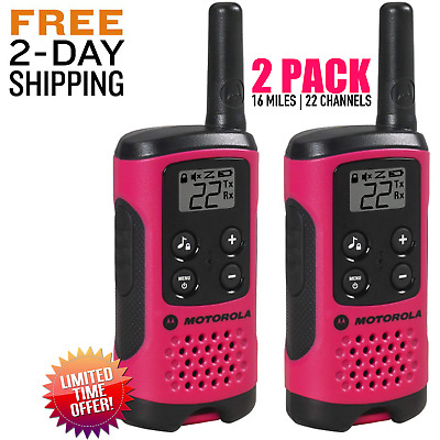 $ CDN46.96 • Buy Motorola LONG Range Police Two Way Radio Walkie Talkie 16 Mile 2 Pack 22 Channel