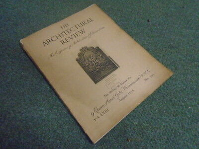 £38 • Buy The Architectural Review: A Magazine Of Architecture And Decoration Vol. LVIII A