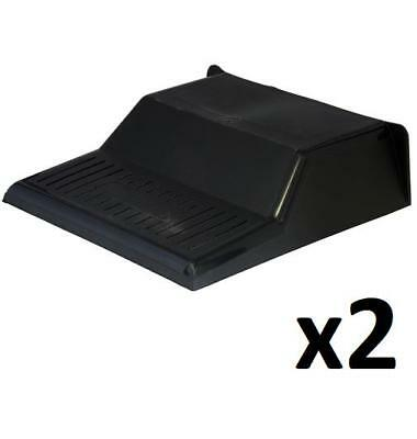 £11.99 • Buy 2 X Black Plastic Drain Cover 30 X 30 X 9cm. Durable, Slotted Grill, Raised Back