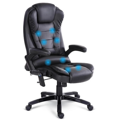 AU153.34 • Buy 8 Point PU Leather Reclining Massage Chair - Black