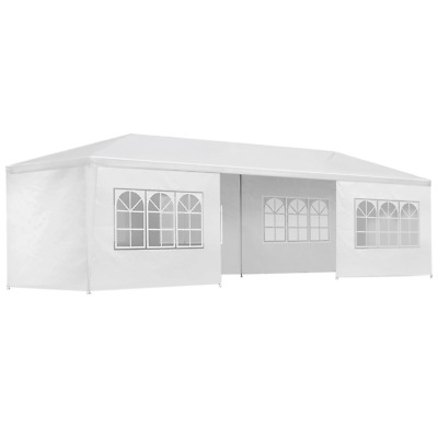 AU126.53 • Buy Instahut Gazebo 3x9m Outdoor Marquee Side Wall Gazebos Tent Canopy Camping White