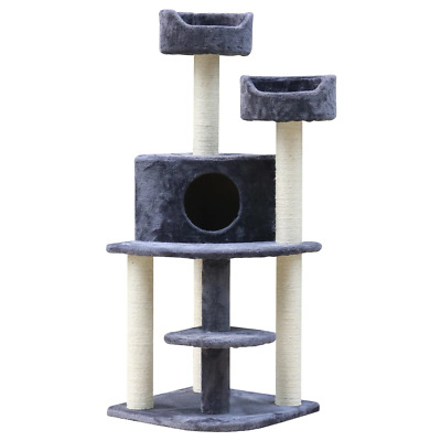AU59.54 • Buy I.Pet Cat Tree 126cm Trees Scratching Post Scratcher Tower Condo House Furniture