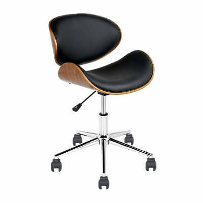 AU113.84 • Buy Wooden & PU Leather Office Desk Chair - Black