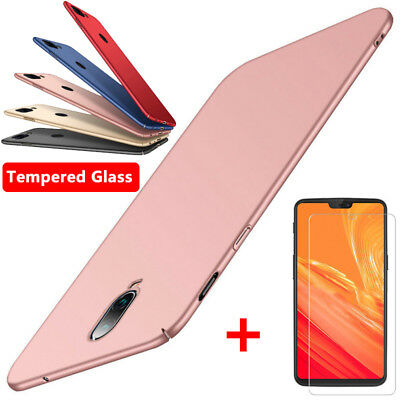 AU4.91 • Buy For One Plus 7T 7 6T 6 5T 5 3T Matte Slim Hard Phone Case Cover + Tempered Glass
