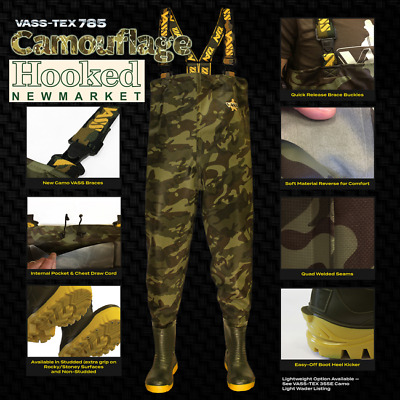 £107.99 • Buy VASS TEX 785 Camo Edition Camo Chest Waders- All Sizes *incl NEXT DAY DELIVERY*