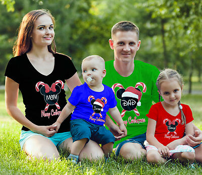 $11.99 • Buy Disney Family Christmas Vacation Customized Matching-Add Family Names To Shirts!