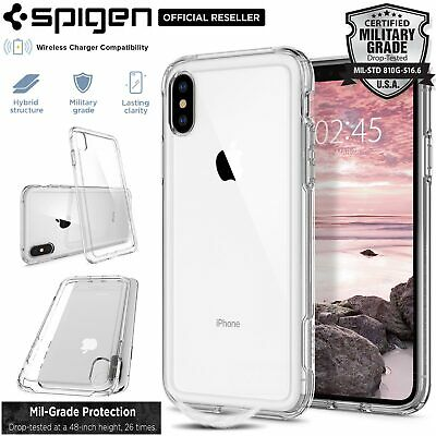 AU49.99 • Buy [FREE EXPRESS] IPhone X XS Case, Spigen Crystal Hybrid Ultra Cover For Apple