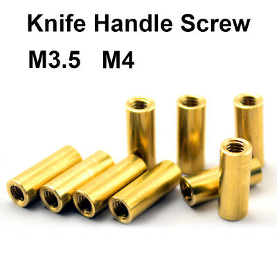 $ CDN3.86 • Buy M3.5 M4 Brass Knife Handle Screw Round Coupling Nuts Connector Knives DIY Rivets