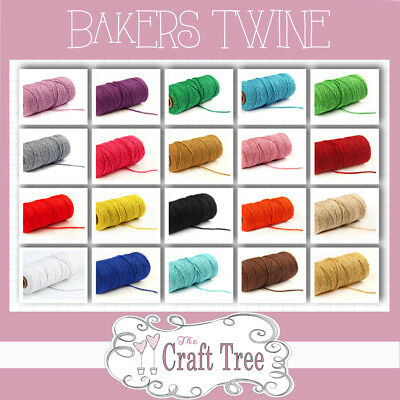 £1.95 • Buy COTTON BAKERS TWINE Cord String - Solid Colours And 1, 10, 20, 30, 100 Lengths
