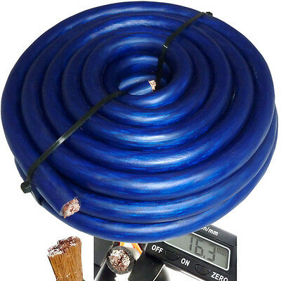 AU47.12 • Buy 20' Ft 0 Gauge Blue Car Audio Power Ground Wire Cable 20 Feet Zero AWG USA Ship