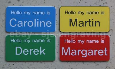£1.30 • Buy Large Size Engraved DEMENTIA FRIENDLY Name Badges - Choice Of Colours / Fixings
