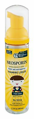 £9.21 • Buy Neosporin First Aid Antiseptic No Sting Foaming Liquid For Kids 2.3 Oz (2 Pack)