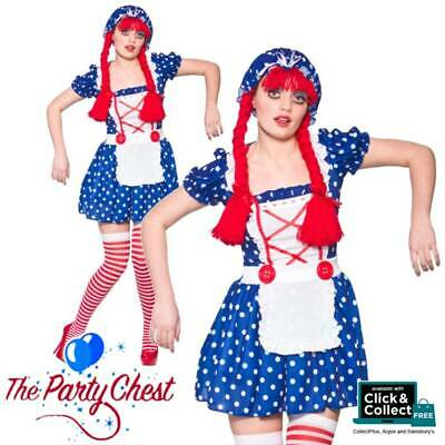 £8.95 • Buy LADIES BLUE RAG DOLL GIRL COSTUME Womens Dolly Doll Fancy Dress Outfit 2201