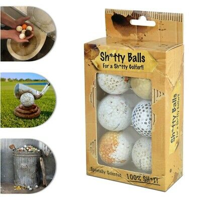 £9.99 • Buy Shitty Golf Balls For A Shitty Golfer Novelty Present Fun Gift For Fathers Day
