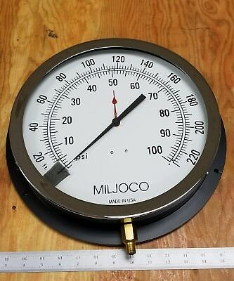 $149.99 • Buy New Miljoco - Pressure Gage 0 To 100 Psi, 0 To 230 Ft H20, 12  Dial (b95t)